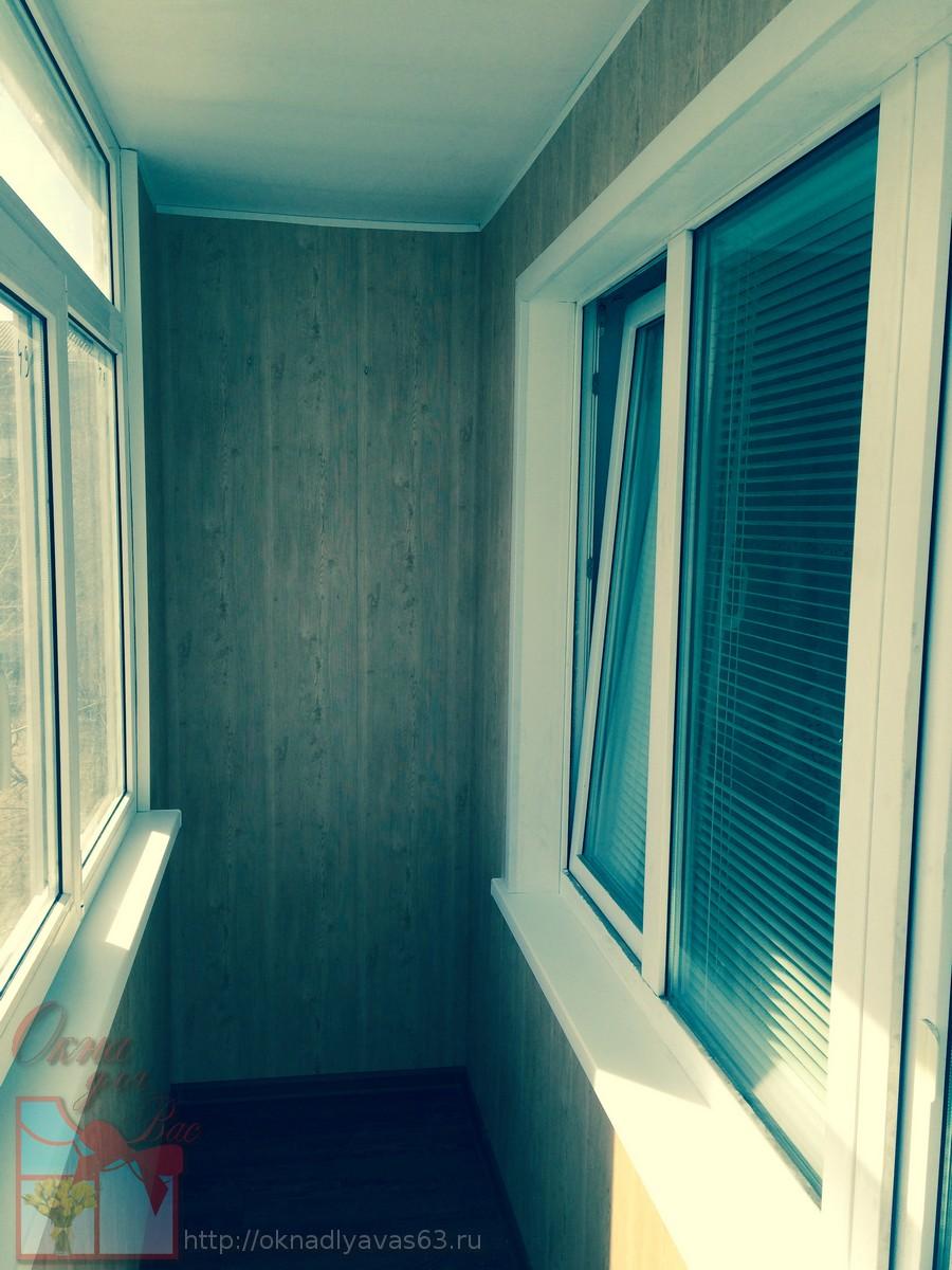 Обшивка балконов и лоджий внутри.